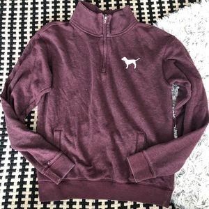 Love PINK half zip pullover
